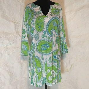 Bahamas beachy ocean inspired tunic/coverup
